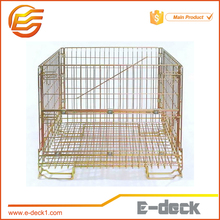E-DECK Metal Bin Storage Container Mesh Box Wire Cage Rolling Metal Storage Cage
