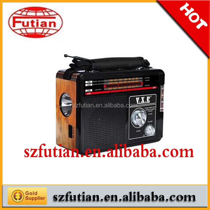 Stereo 220V radio with torch light/3 Bands boombox Radio with USB/SD Card FT-036
