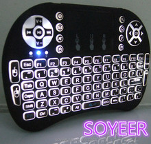 Soyeer Mini I8 Pink Wireless Keyboard And Mouse Remote Control Star Sat