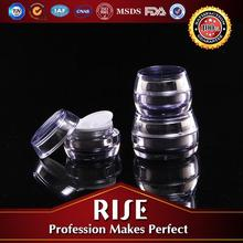 acrylic drum shape cream Jars for cosmetic
