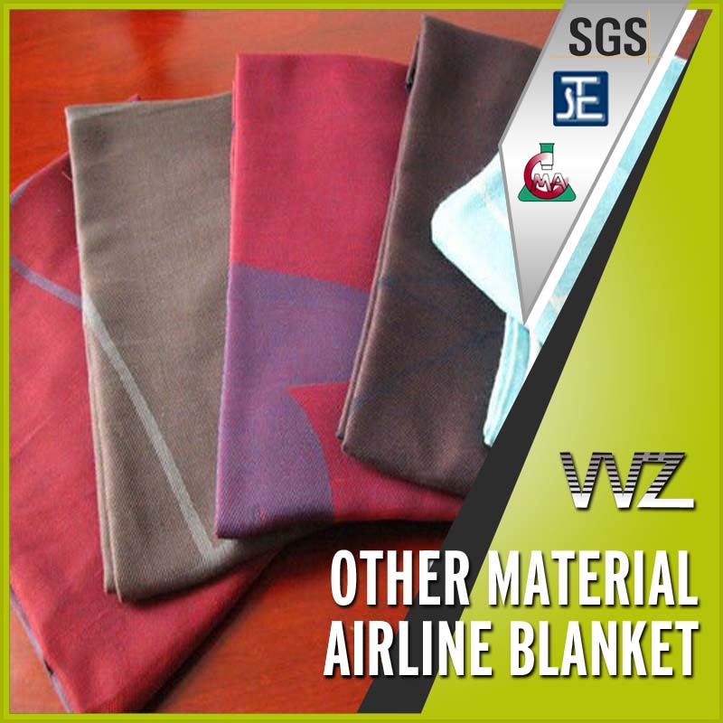 Cheap price High Quality Soft Feeling Polyester Acrylic Airlines Blanket supplier