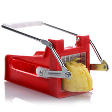 Stainless Steel Home French Fries Potato Chips maker, Potato Strip Cutting + 2 Blades
