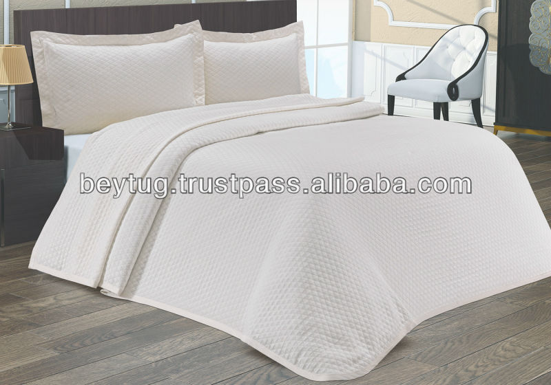 "%100 COTTON BED COVER SET / Modern Selection of Luxury Bedspreads/Throws Double Made in Turkey 87"" x 91"""