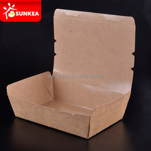 Disposable printed craft paper board food packing lunch boxes