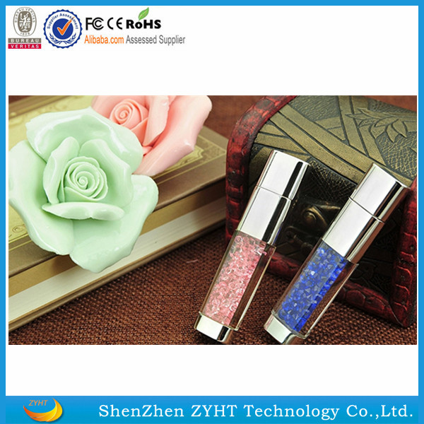 hot selling real capacity custom diamond jewelry usb flash drive crystal usb stick wholesale usb flash drive