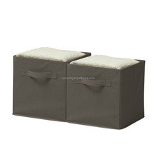 OEM china wholesale non woven grey collapsible cubes storage