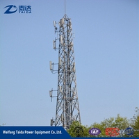 Business Partners Galvanized GSM Antenna Monopole Tower