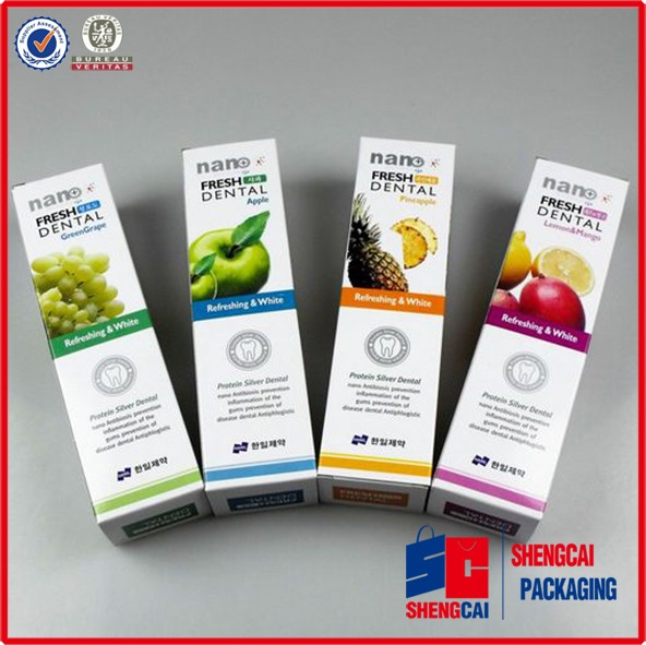 Cardboard paper printing&packaging toothpaste packaging box with printing logo