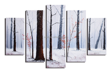 wall art forest style oil paintings on canvas for home decor