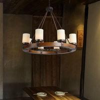 Wood chandelier lighting vintage hanging light fixture for kitchen room