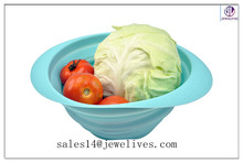 Colorful wholesales unbreakable microwave safe silicone bowls collapsible serving bowl