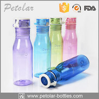 2015 Fashion Plastic Water Bottle Push Pull Top