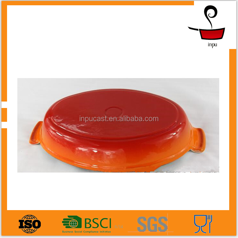 factory diret cast iron ceramic baking dish enamel ware european cookware