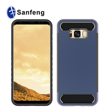 New design friendly material Carbon Fiber Pattern case for samsung s8 plus, for samsung galaxy s8 case