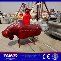 Crazy Funny Price Mechanical Bull Rodeoamusement equipment /Inflatable bull riding machine for adults