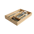 BSCI&FSC cantilever custom decorative unfinished beech wooden cutlery tray