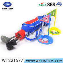 Hot sell Deluxe Golf toys Kids Plastic Golf Clubs Set