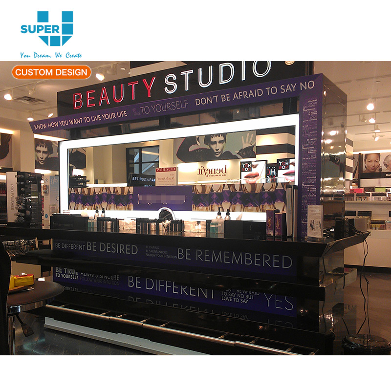 Custom OEM/ODM Manufacturer Makeup Store Furniture Cosmetic Display Units