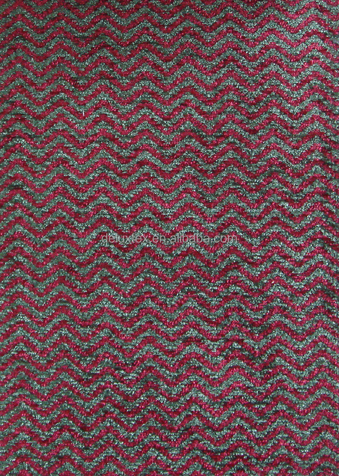 Plain upholstery red weave coating sofa cloth jacquard fabric
