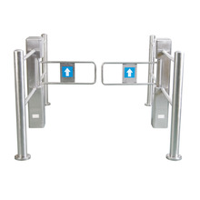 304 stainless steel price access control Supermarket entrance and exit swing barrier gate