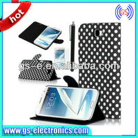 2014 new protective case For Samsung note2 n7100 ,PU leather case for note 2