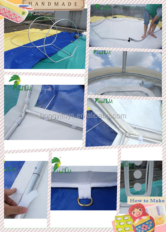 High Quality Inflatable Transparent Bubble Tent/Clear-Inflatable-Lawn-Tent