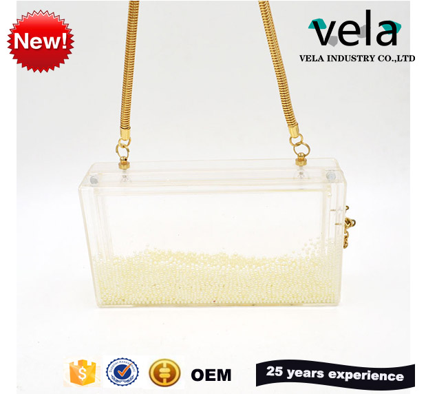 Customized Box Acrylic And Pearl Clutch Bag Wholesale,Acrylic Cluth For Lady