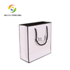 Wholesale printed custom made luxury paper shopping bags with black twisted rope