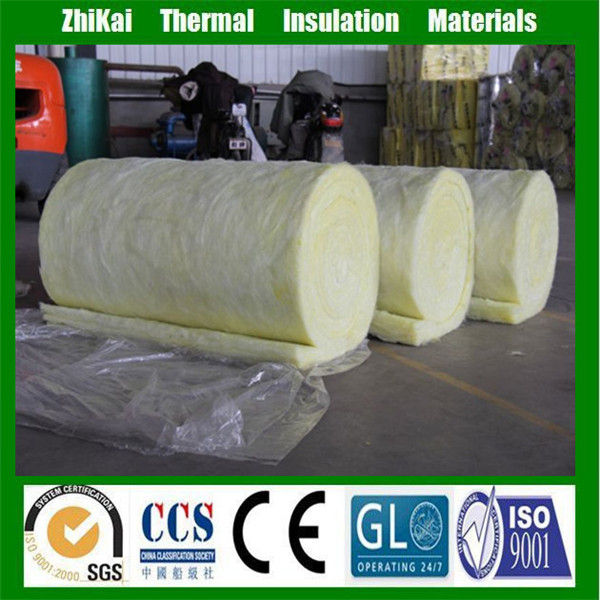 Interior wall sound insulation R11 glass wool roll, Thermal insulation Fiber Glass wool^