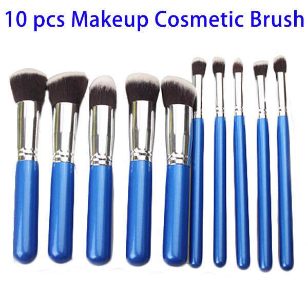 Alibaba Clearance Sale 10pcs Professional Foundation Cosmetic Makeup Brushes Set