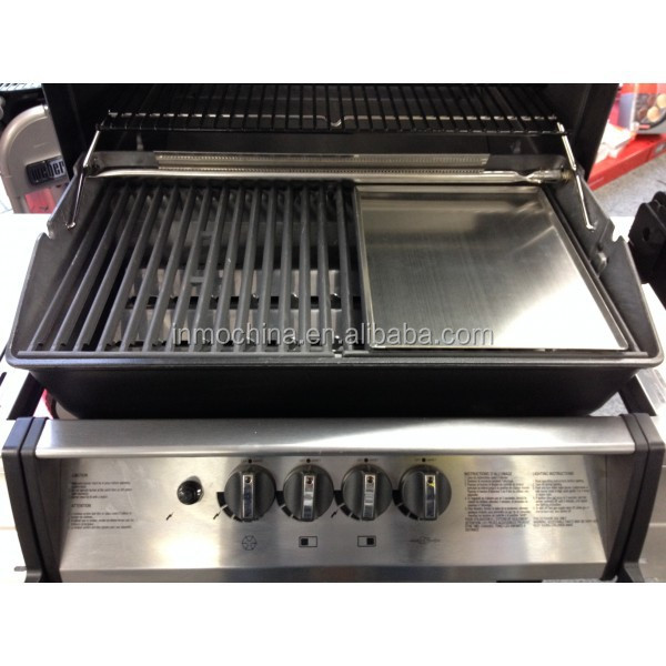 Stainless steel hot plate for bbq grill view