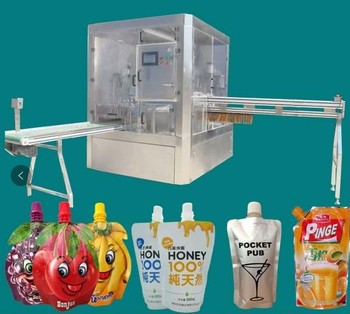 Spouted pouch filler and capper machine/water stand up pouch filling machine