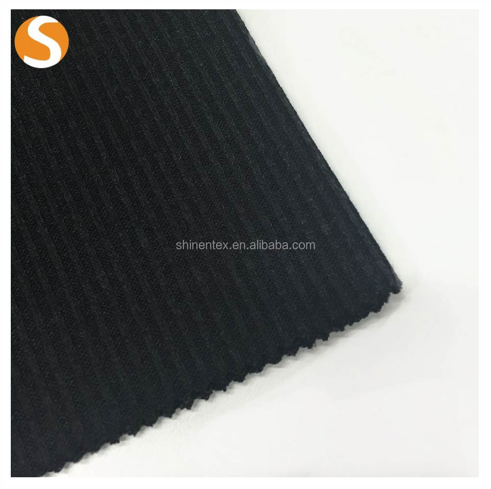 New Popular super soft 100% polyester ottoman rib knitted fabric for dress