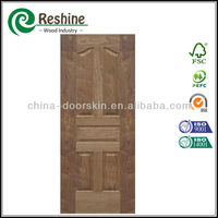 Veneer HDF interior black walnut door