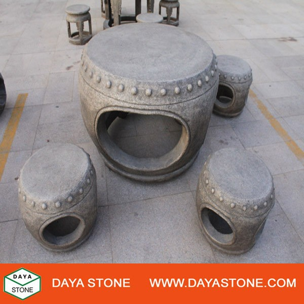 Chinese Antique outdoor granite table and chair