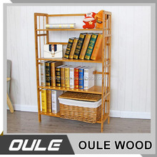 High quality hot sale wooden bookcase / wood display shelf / wooden bookstore