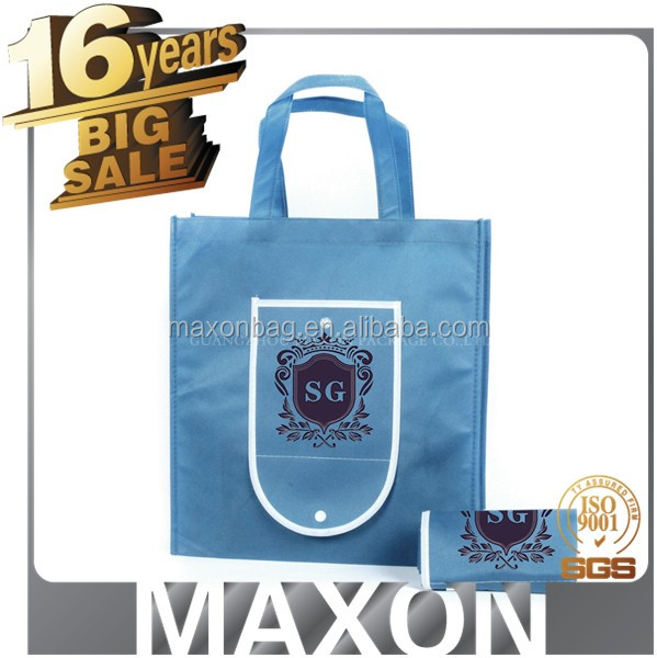 Foldable polypropylene shopping handle non woven tote bag with a small bag