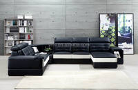 big sectional heated leather sofa