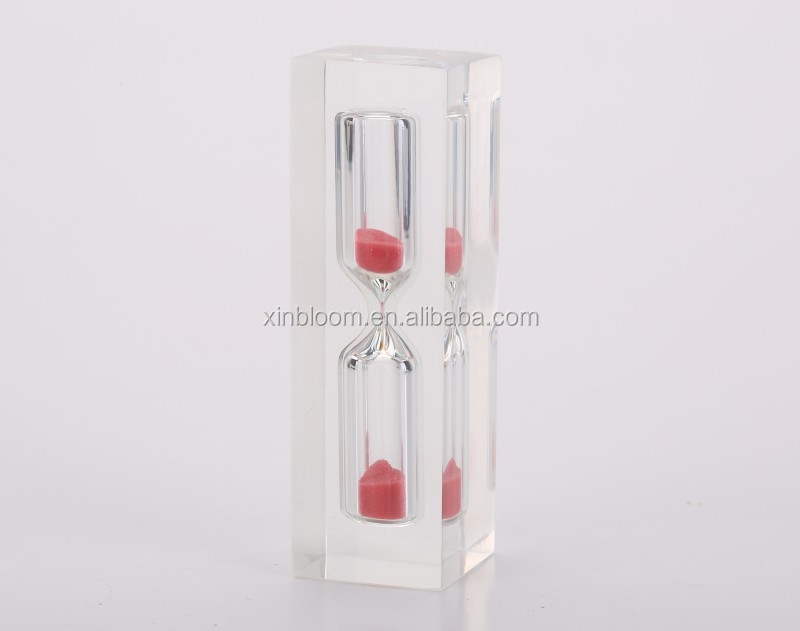 promotional gift 3-5 minutes mini acrylic sand clock timer hourglass