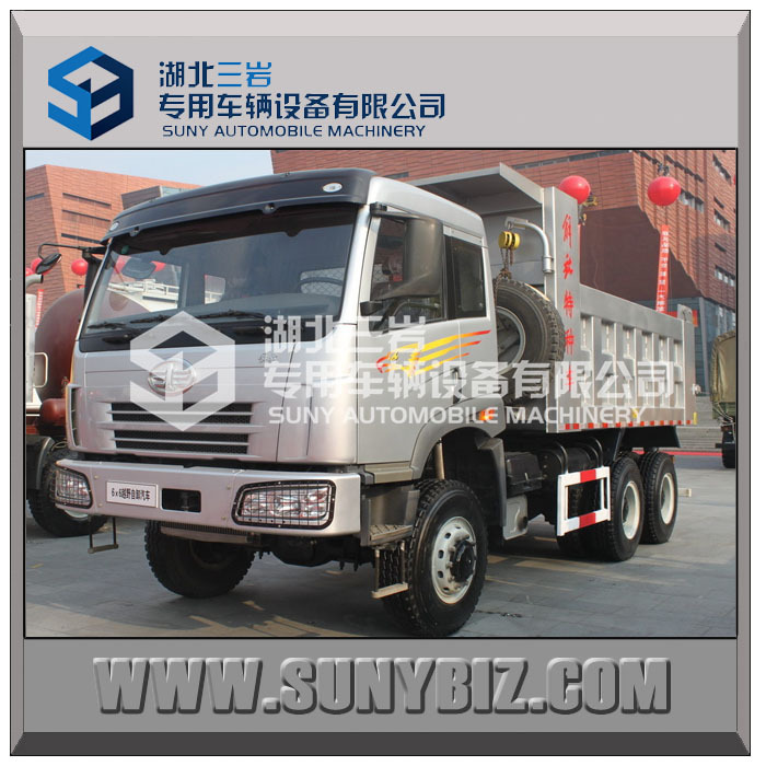 FAW 6X6 all-wheel-drive 350hp Dump Truck Tipper Truck FAW China Tipper Truck For Sale