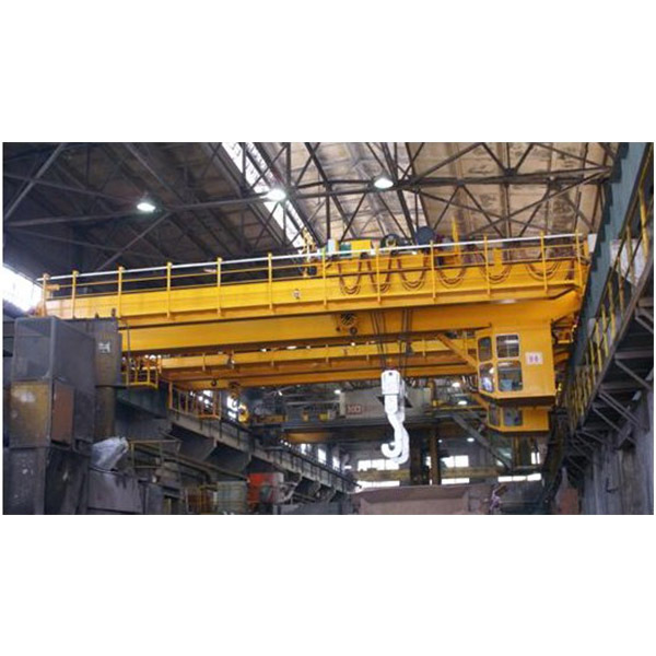 Steel Melting Plant Steel Scrap Charging Magnet Cranes For Steel Lifting