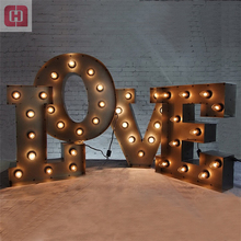 Outdoor large vintage light up led letters giant love marquee letters
