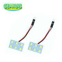 Dome Panel light 6 SMD 5050 LED 6SMD With T10 Festoon BA9S Adapters 12V