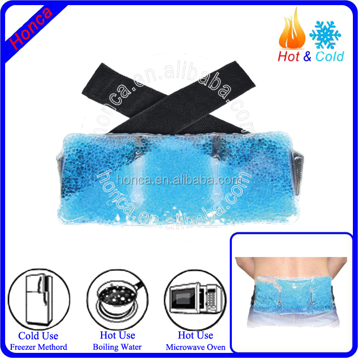 Hot/cold therapy gel bead lower back cold hot pack