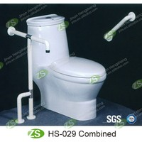 Toilet and bathroom safety grab bar for disabled and elderly