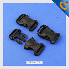 double color adjustable side release buckle black metal buckle plastic curved pet buckle