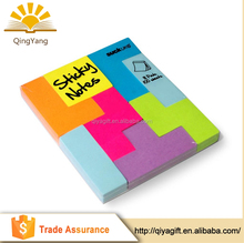wholesale eco-friendly products letter shaped sticky notes Tetris notepad memo pad