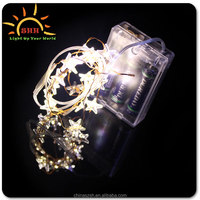 Light Up color changing outdoor christmas led star shape string lights