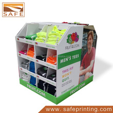 cardboard clothing pallet display stand for retail store
