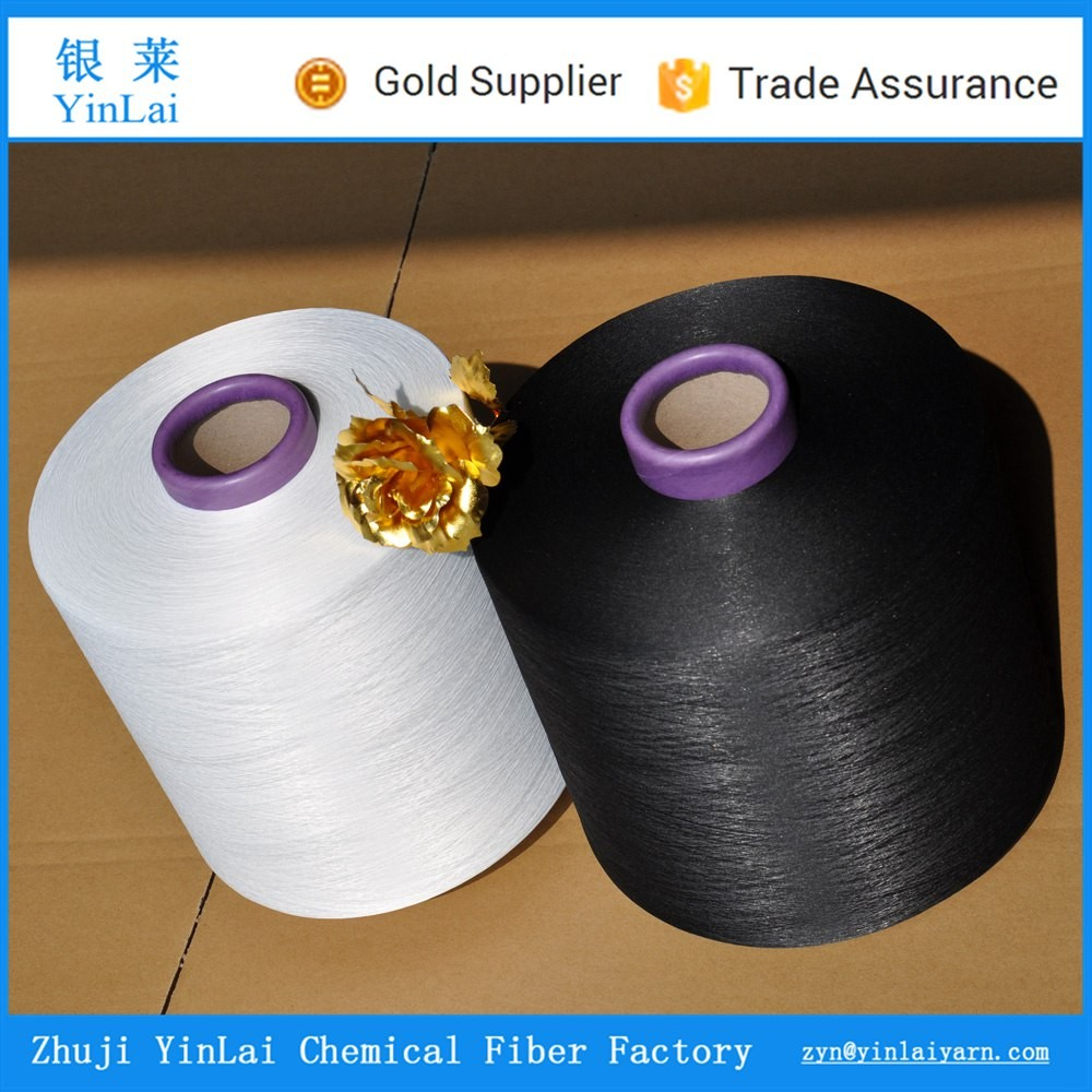 factory price 100% air spandex covered yarn / polyester yarn